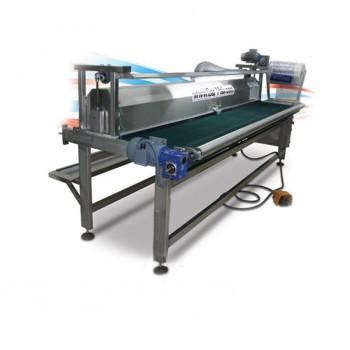 Машина для финишной обработки ковара сворачивания в руллон и упаковки